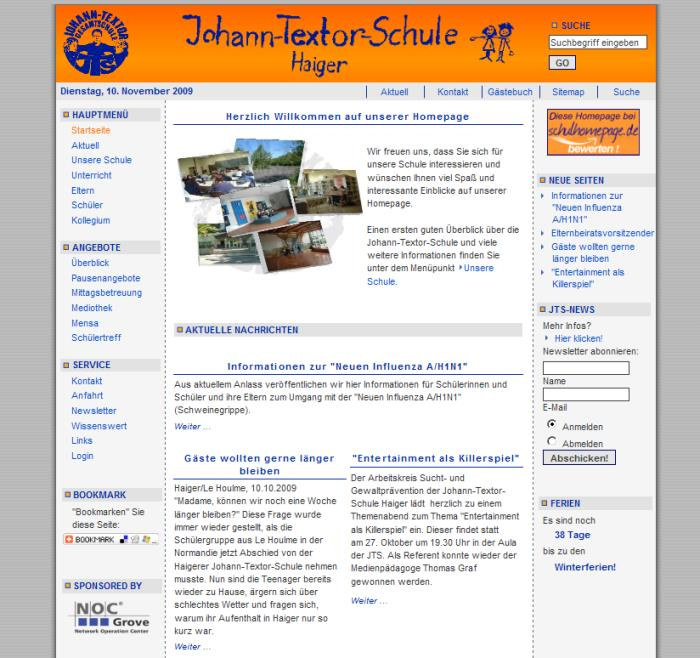JTS-Hompage Version 2